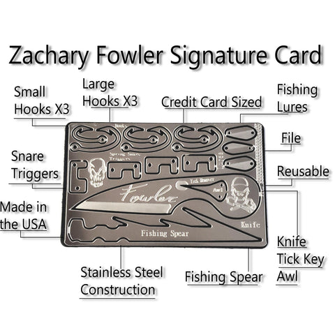 Zachary Fowler Signature Survival Card-Grimworkshop-bugoutbag-bushcraft-edc-gear-edctool-everydaycarry-survivalcard-survivalkit-wilderness-prepping-toolkit