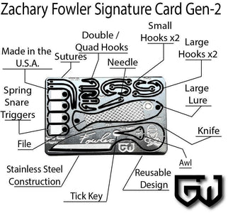 Zachary Fowler Signature Survival Card Generation 2-Grimworkshop-bugoutbag-bushcraft-edc-gear-edctool-everydaycarry-survivalcard-survivalkit-wilderness-prepping-toolkit