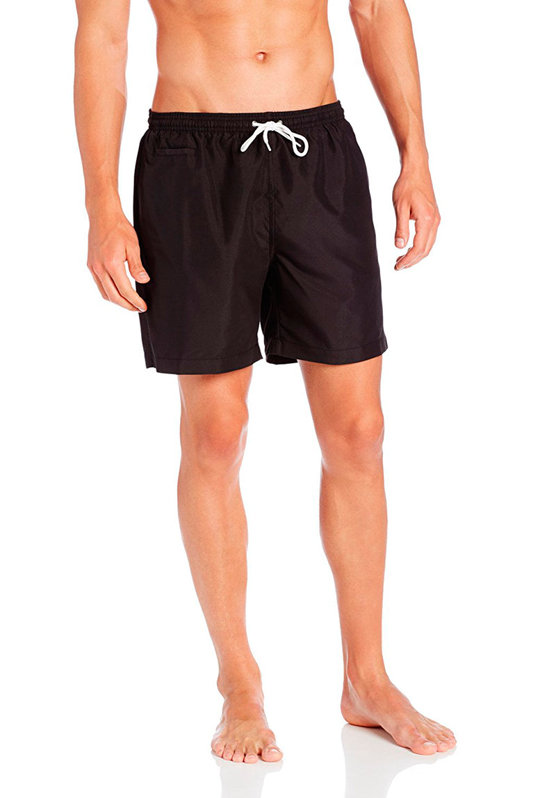 San O Short in Solid Black - Front | Trunks Surf & Swim Co. | Kallone Intimi