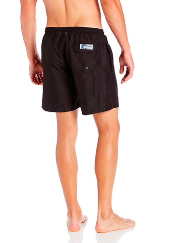 San O Short in Solid Black - Back | Trunks Surf & Swim Co. | Kallone Intimi