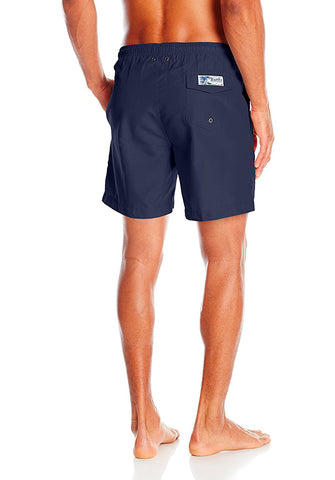 San O Short in Solid Navy - Back | Trunks Surf & Swim Co.| Kallone