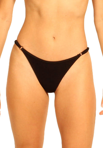 Blaire Bottom in Black - Front | Cheeks Swimwear | Kallone Intimi