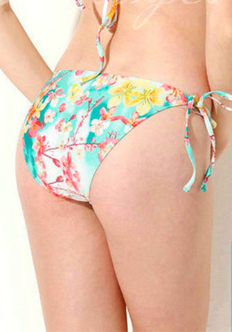 Colloyes - Tie Side Bottom in Flower Print