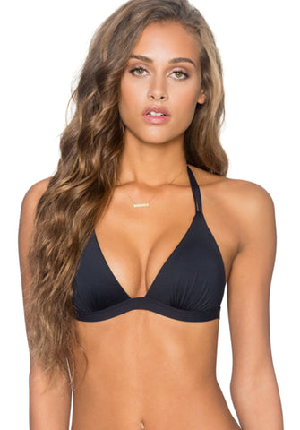 Deep Sea Tri Top in Midnight - Front | B.Swim | Kallone Intimi