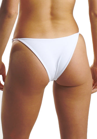 Gabby Bottom in White- Back| Cheeks Swimwear | Kallone Intimi