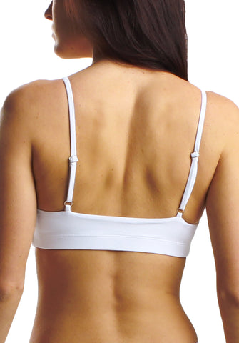 Gabby Top in White- Back | Cheeks Swimwear | Kallone Intimi