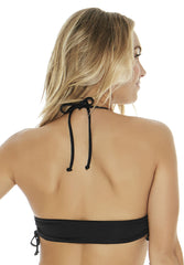 Gwen Top in Black - Back | L*Space | Kallone Intimi