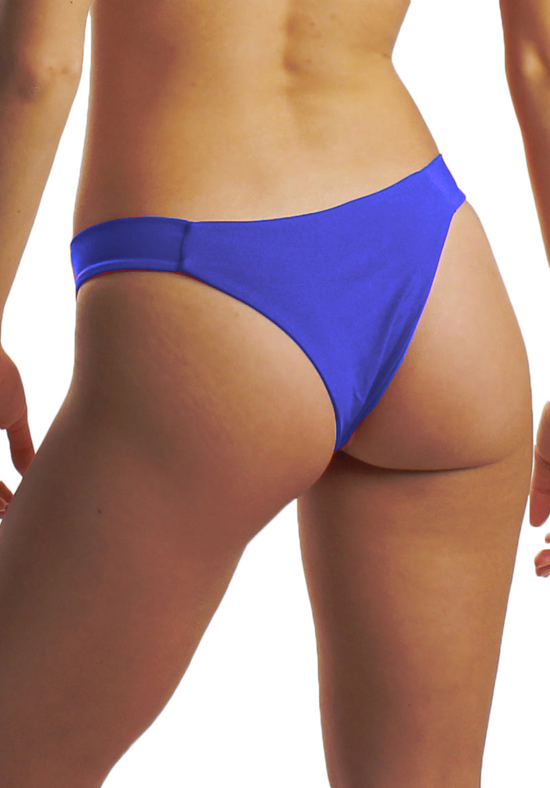 Harper Bottom in Eectric - Back | Cheeks Swimwear | Kallone Intimi