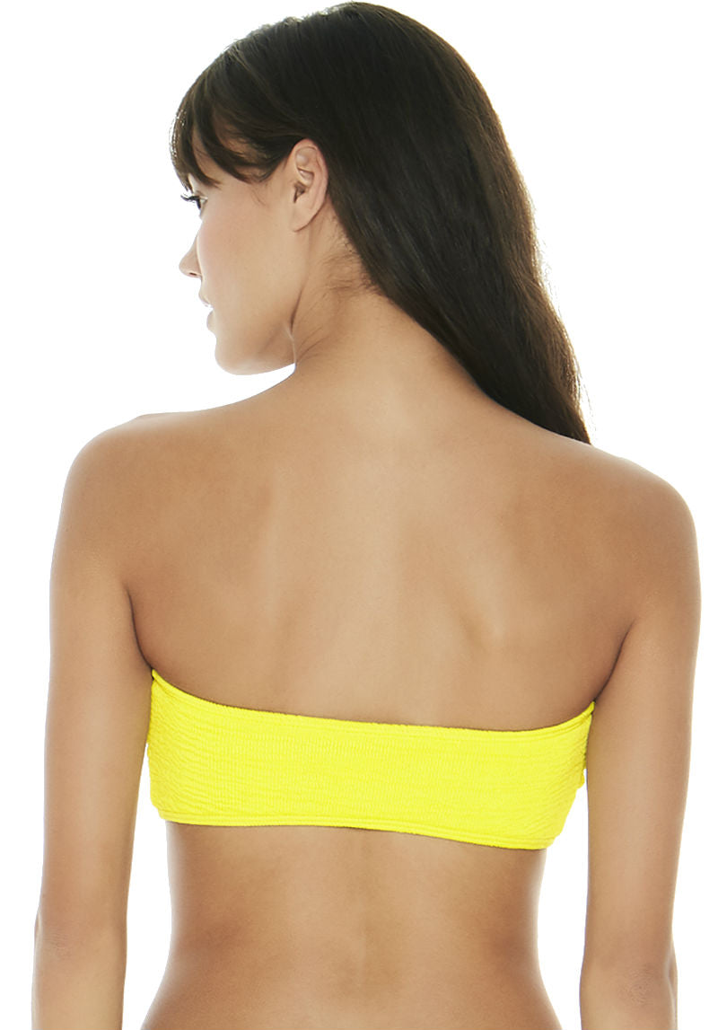 Kristen Top in Pucker Up Canary Yellow - Back | L*Space | Kallone Intimi
