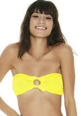 Kristen Top in Pucker Up Canary Yellow - Front | L*Space | Kallone Intimi