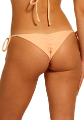 Paradiso Bottom in Neon Pink and Peach - Reversible Back | Cheeks Swimwear | Kallone Intimi