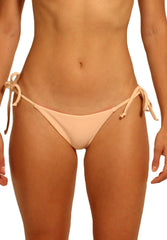 Paradiso Bottom in Neon Pink and Peach - Reversible Front | Cheeks Swimwear | Kallone Intimi
