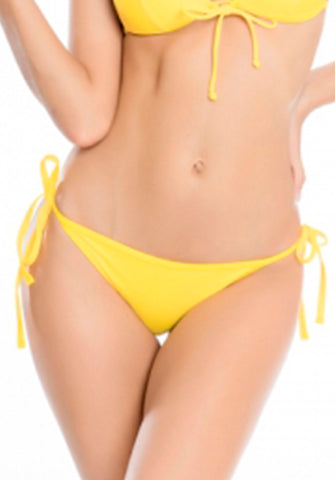 Relleciga - Ruched Back Tie Side Bottom in Yellow