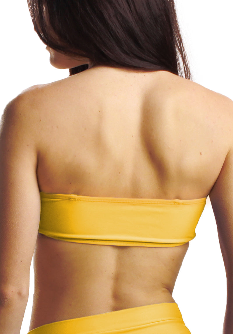 Cheeks Swimwear - Rory Top in Sunshine - Back | Kallone Intimi