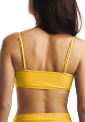 Cheeks Swimwear - Rory Top in Sunshine - Back Straps | Kallone Intimi
