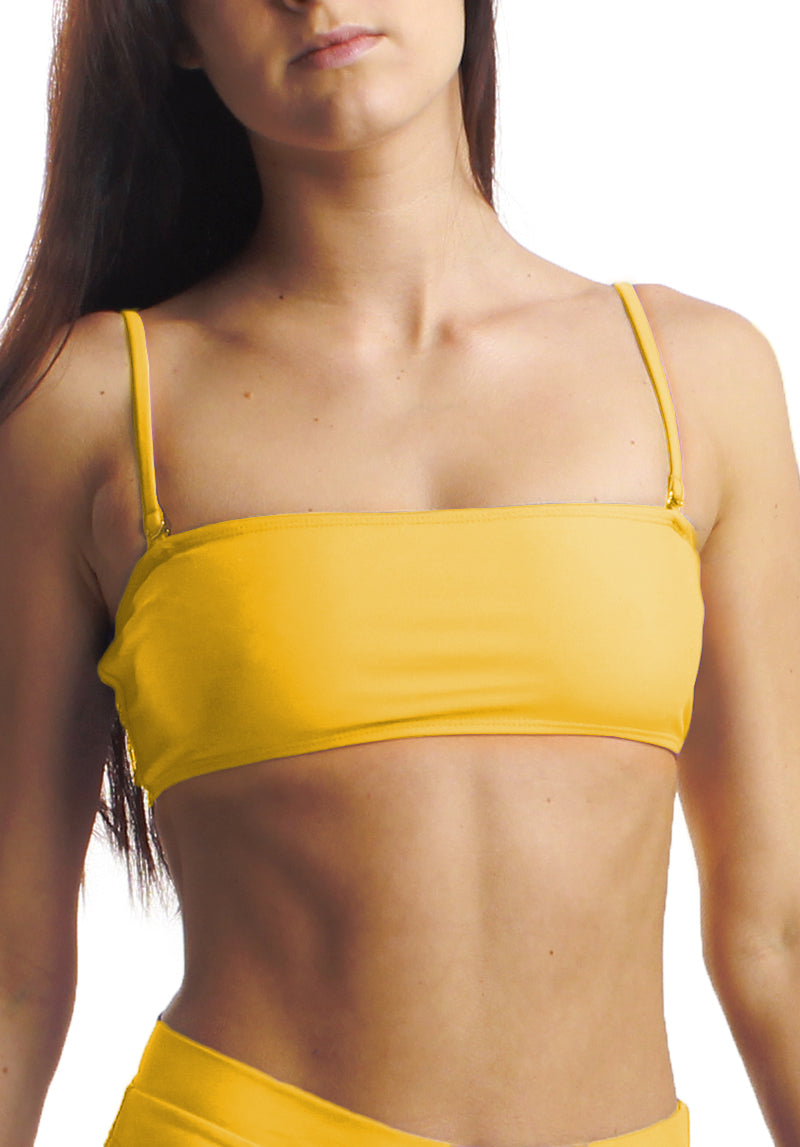 Cheeks Swimwear - Rory Top in Sunshine - Front Straps | Kallone Intimi
