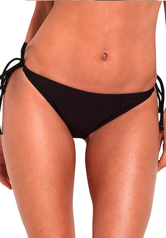 Tie Side Bottom in Black | Relleciga | Kallone Intimi