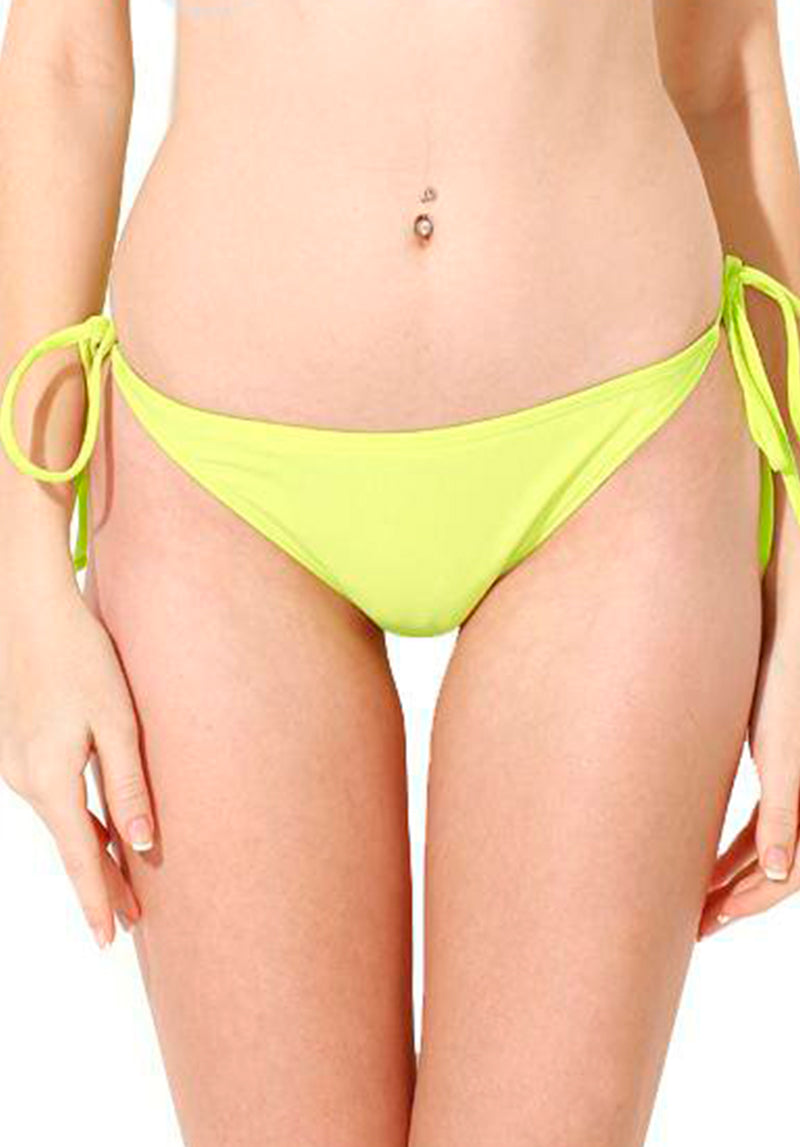 Tie Side Bottom in Neon Yellow | Colloyes | Kallone Intimi