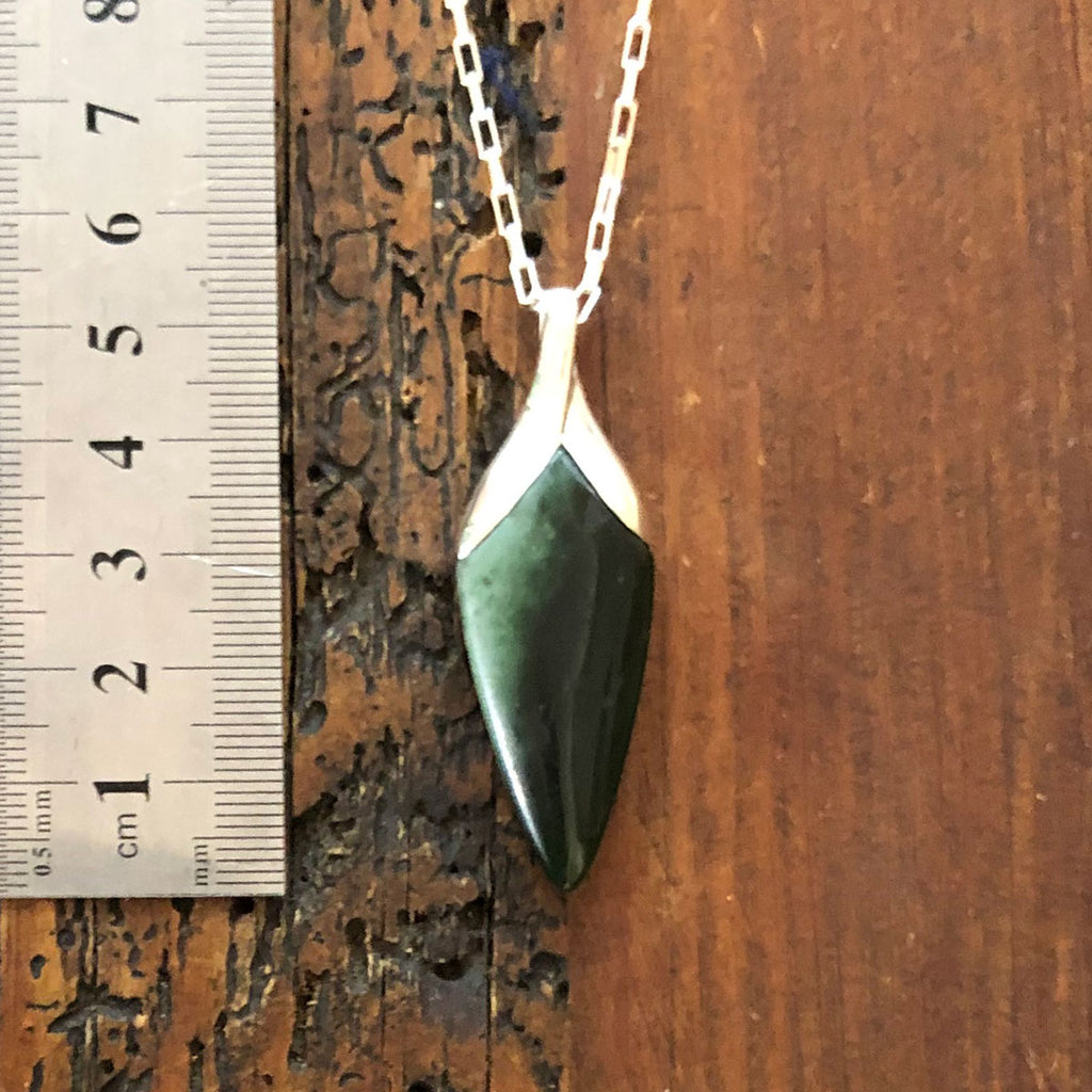 Pounamu New Bloom Pendant #13