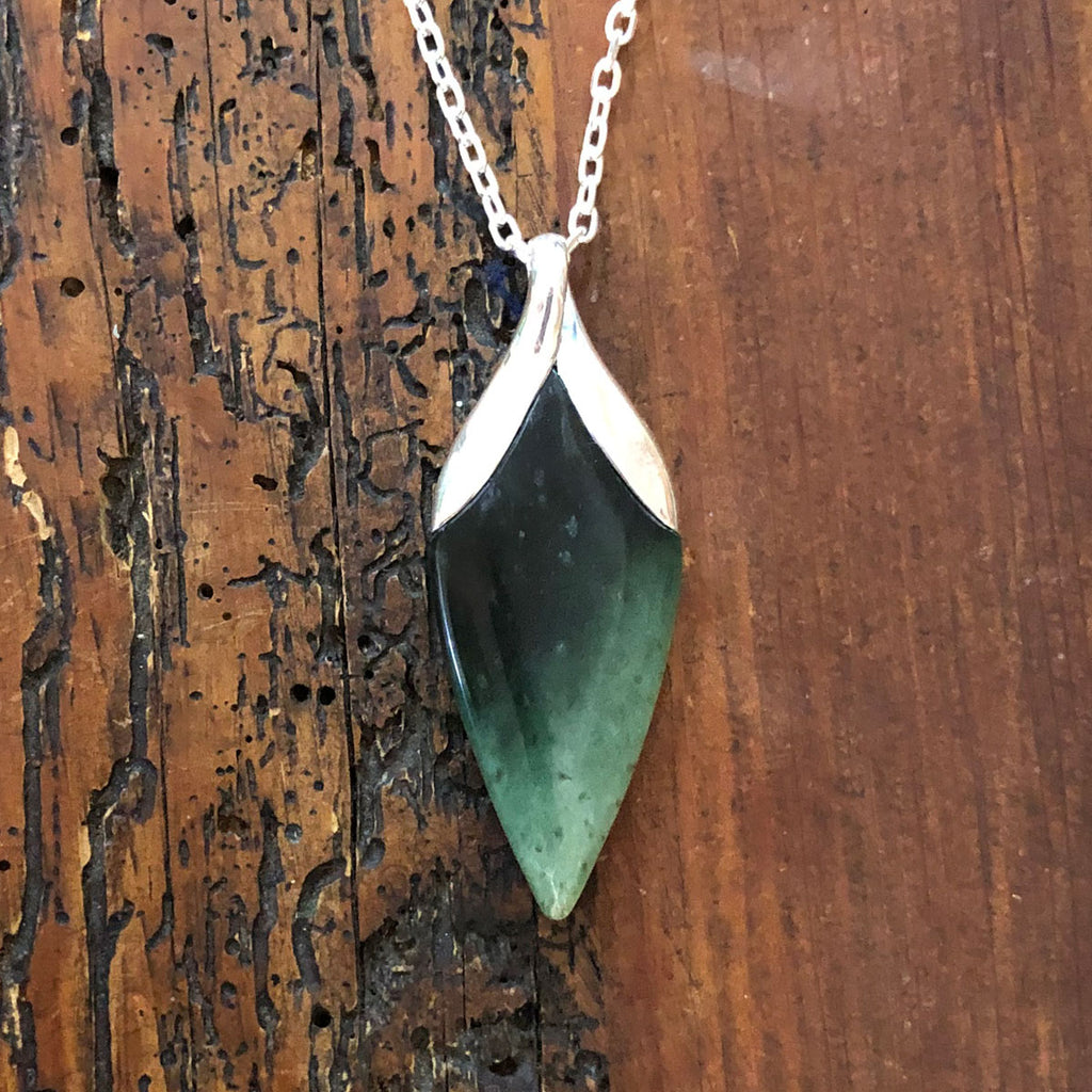 Pounamu New Bloom Pendant #14
