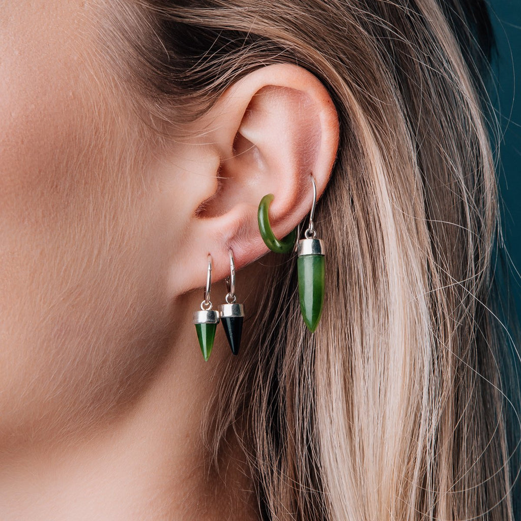Pounamu Tiny Point Earrings