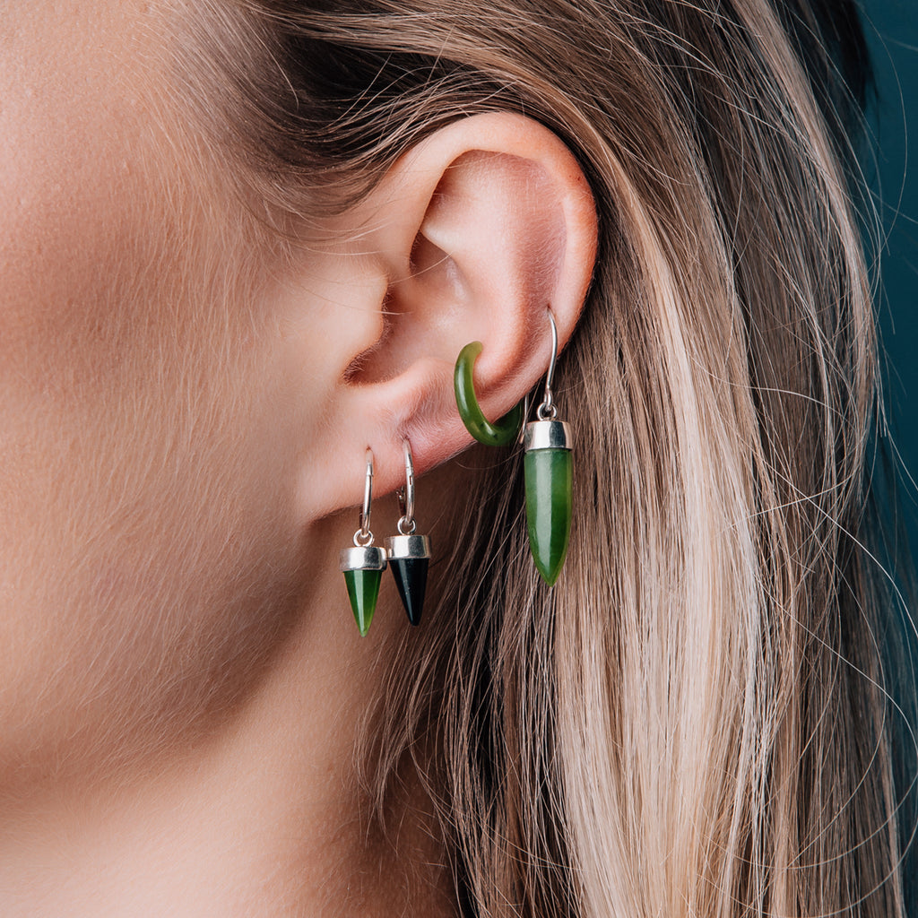 Pounamu Point earrings