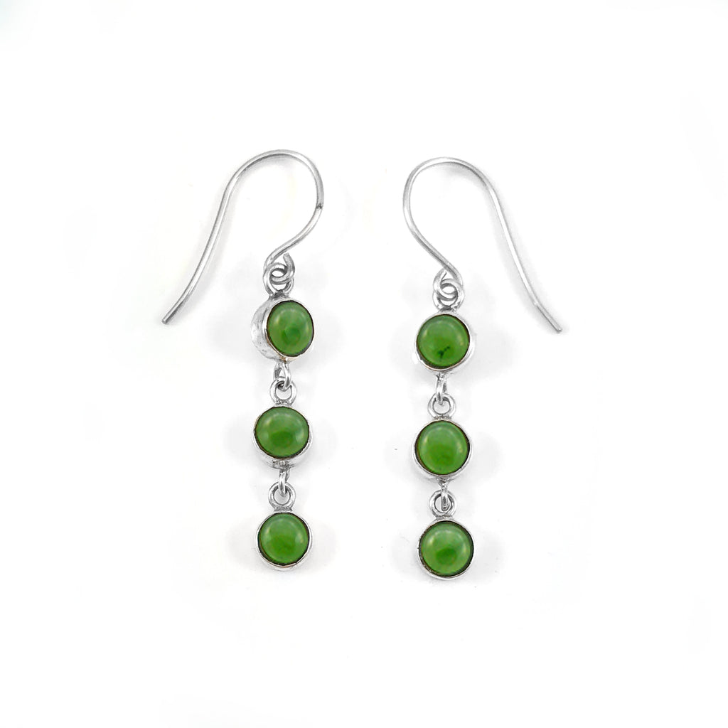 Pounamu 3 Muses Earrings