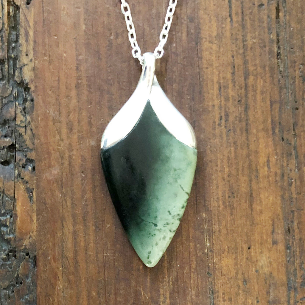 Pounamu New Bloom Pendant #6