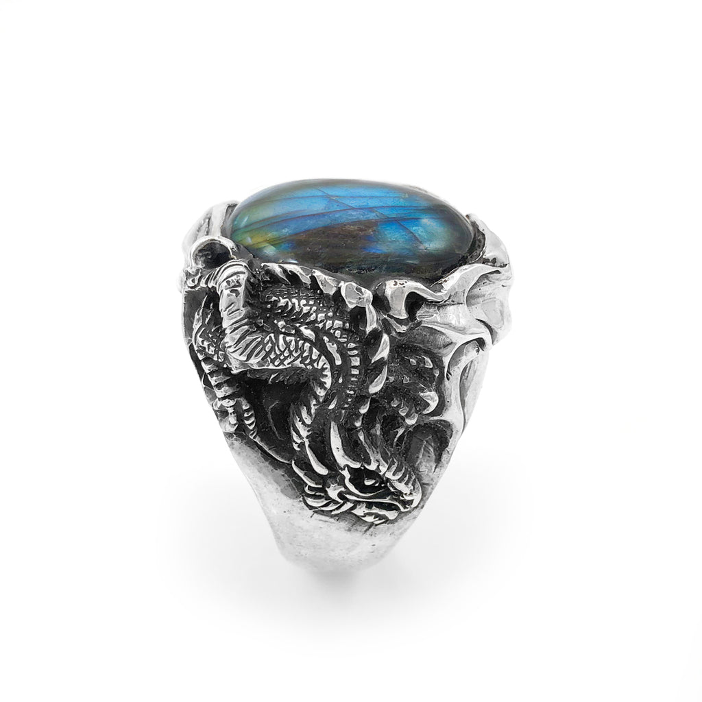 Labradorite Ice Dragon Ring