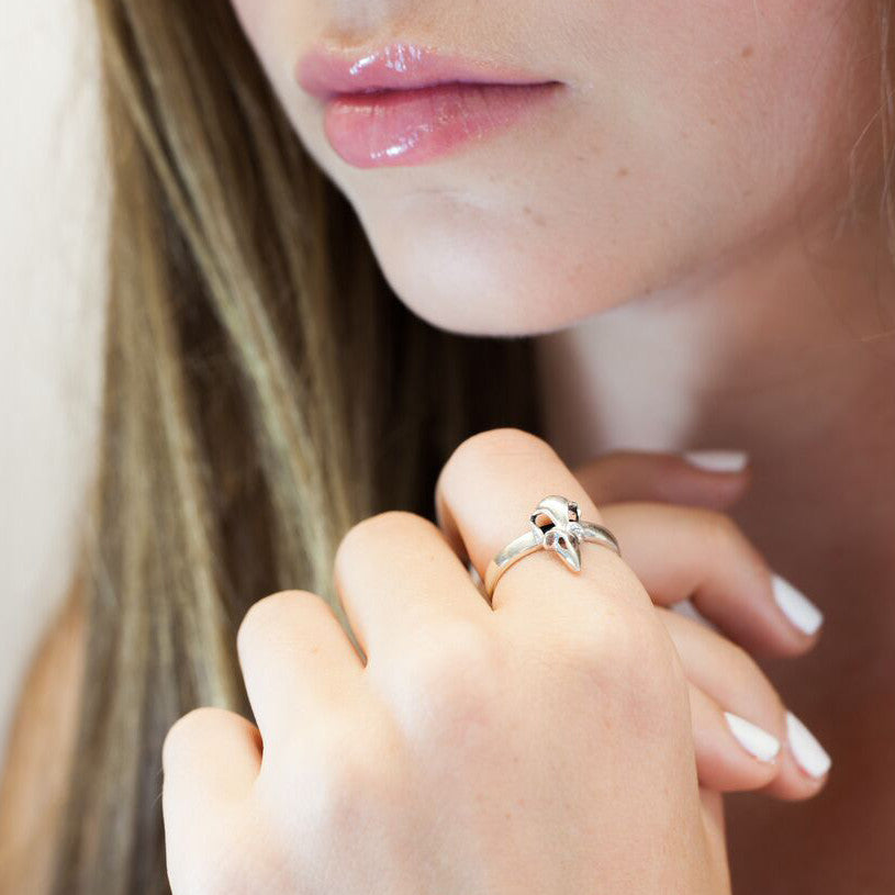 Bird Skull mini ring