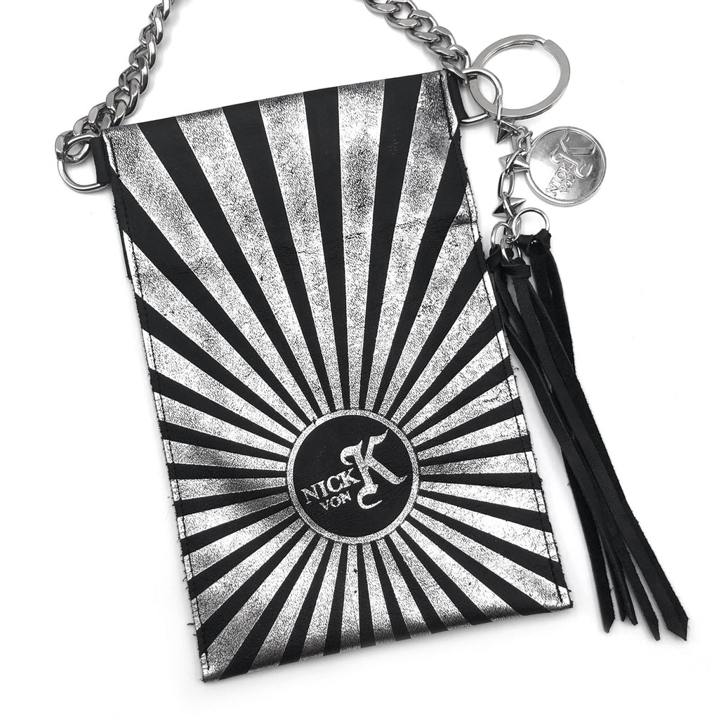 Sunrise Cellphone Pouch Black and Silver