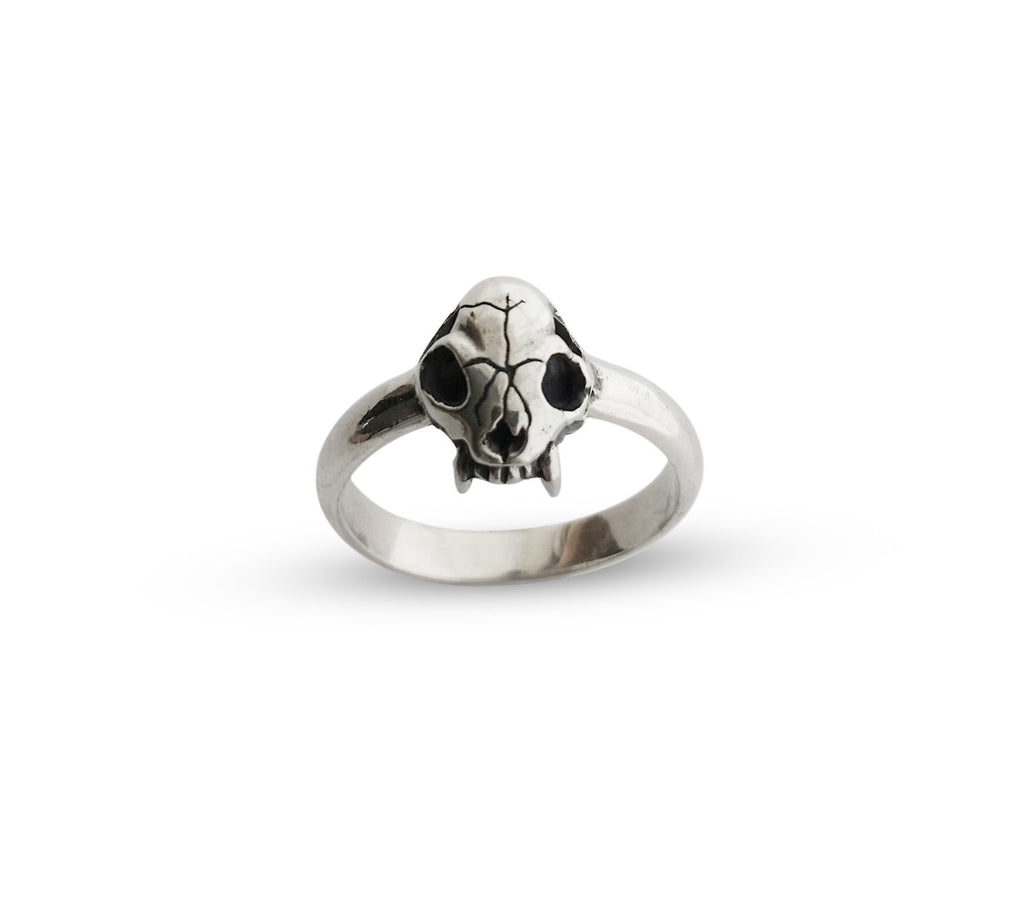 Cat Skull mini ring