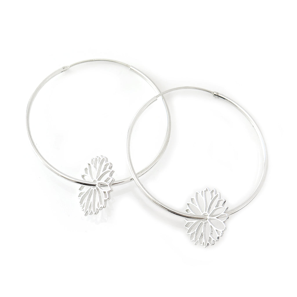 Daisy Dreamcatcher Hoops