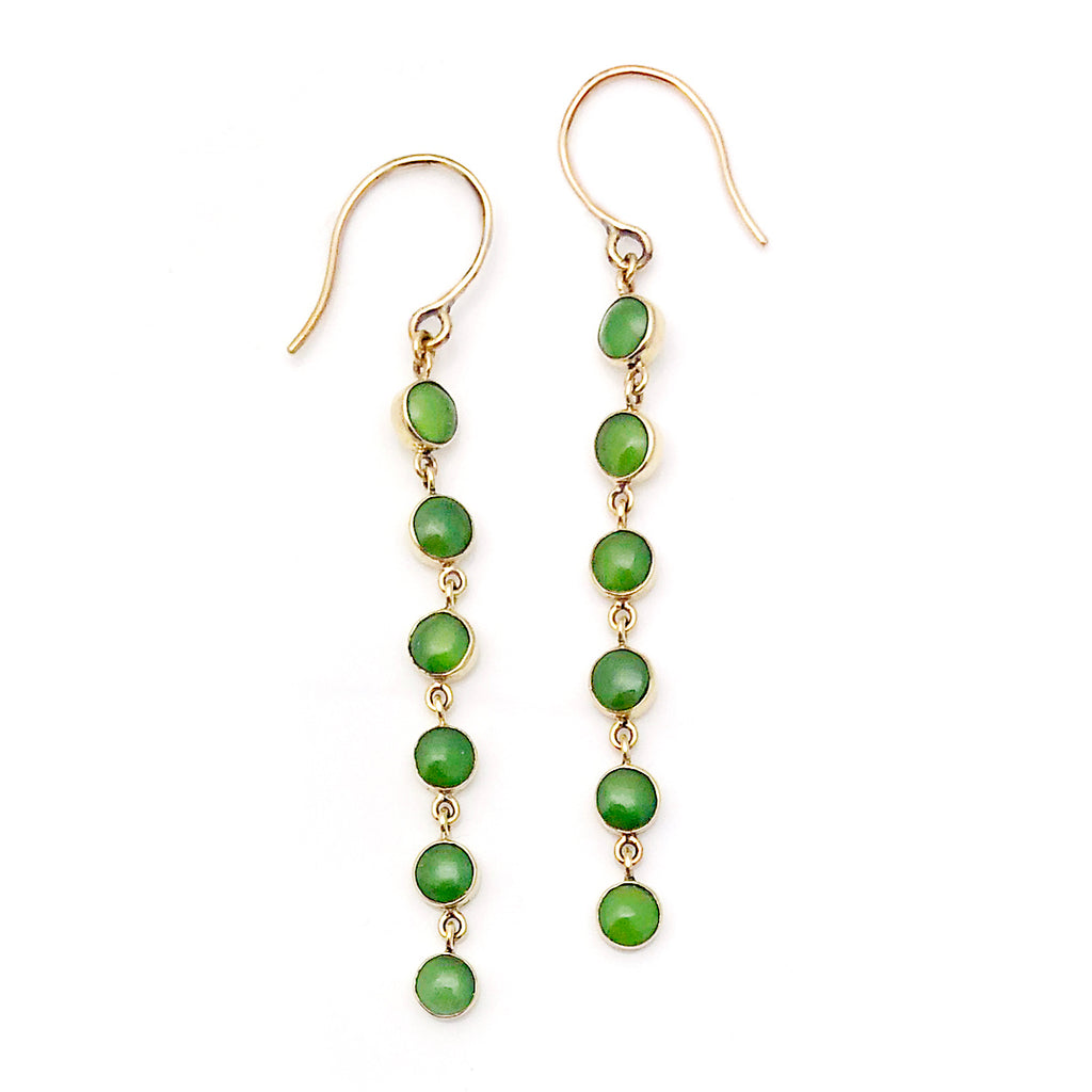 14 carat Gold Pounamu Babylon Earrings
