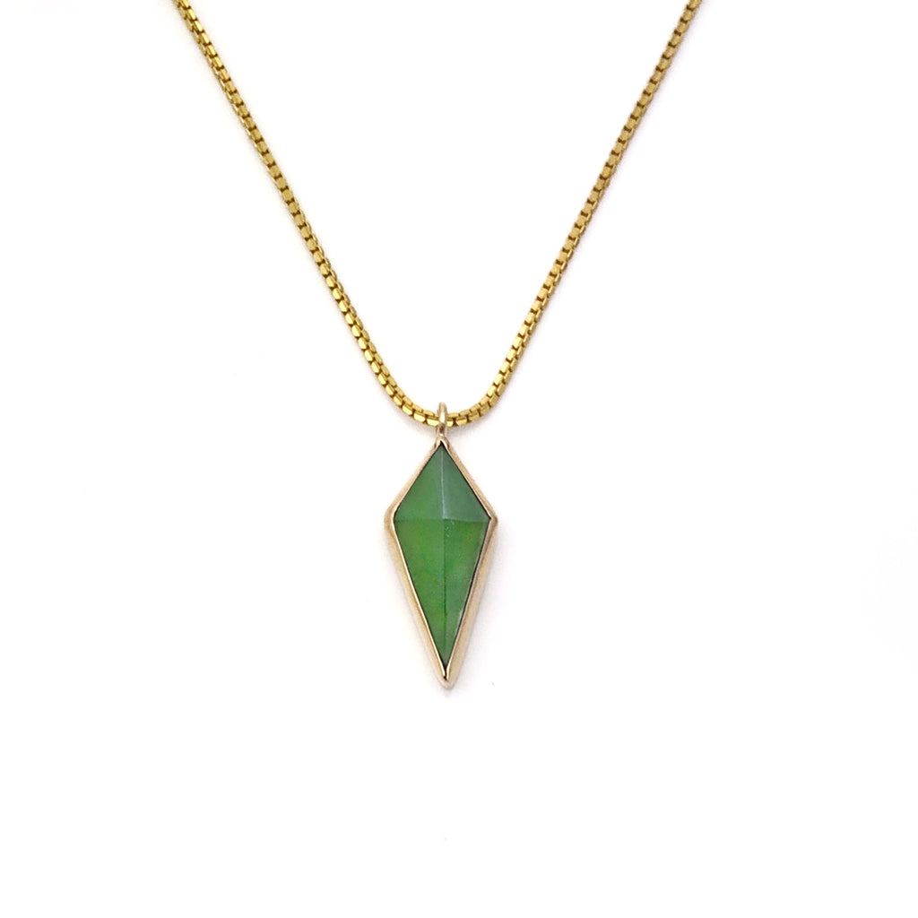 14 carat Gold Pounamu Pinnacle Pendant
