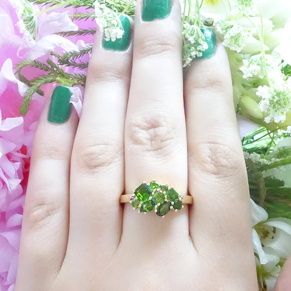 Green Cluster ring