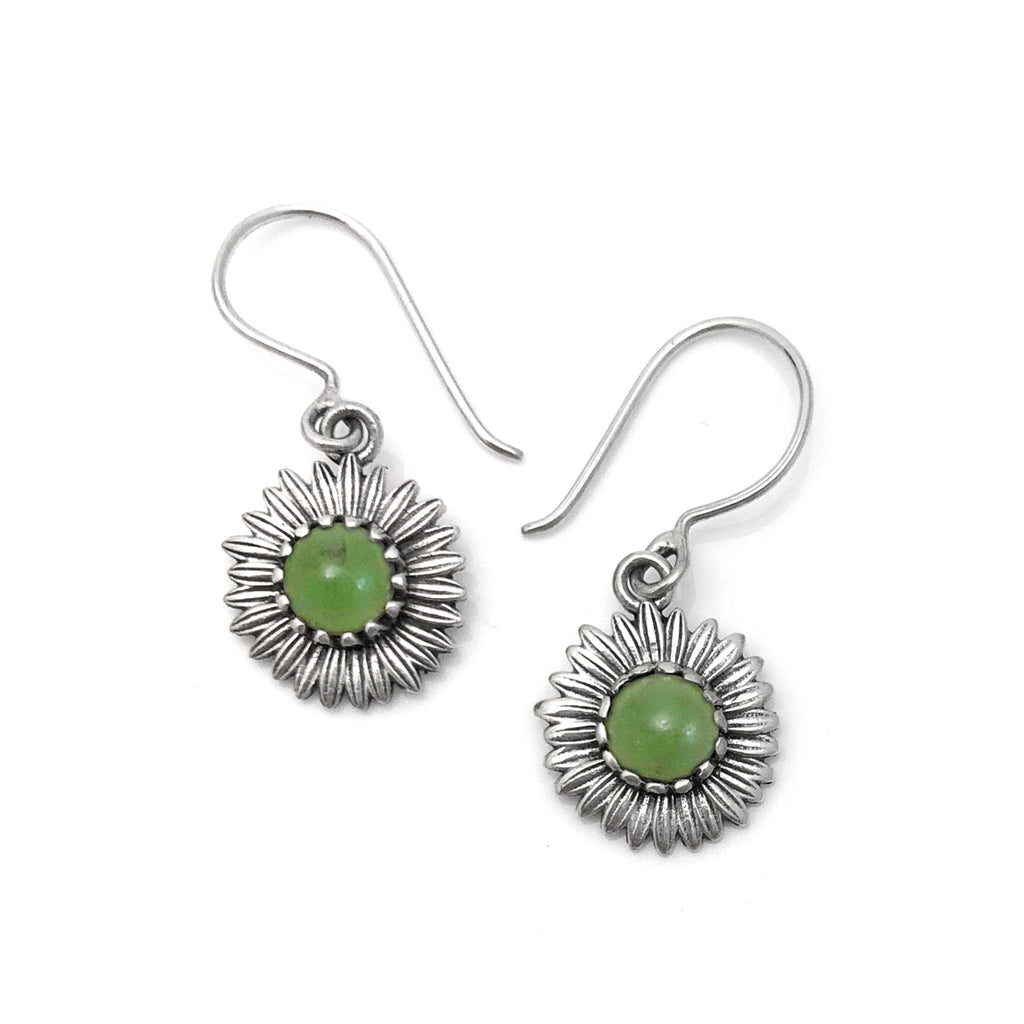 Pounamu Daisy earrings