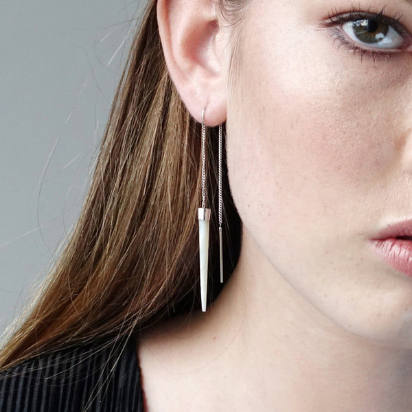 Slipstream Earrings Mother of Pearl