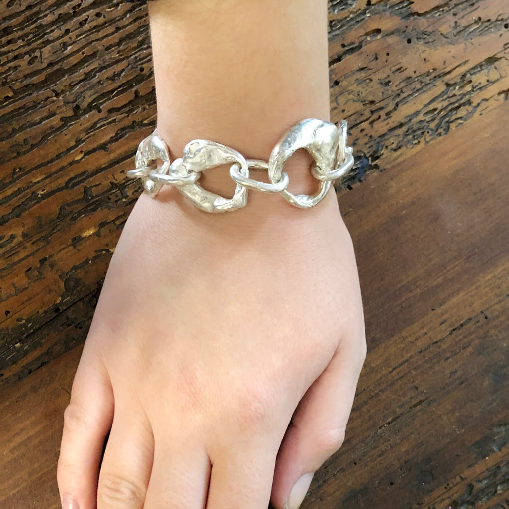Melty Bracelet with Rounded Links