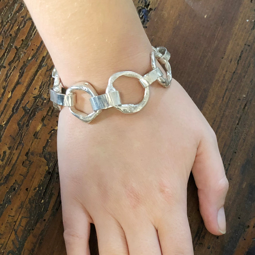 Melty Bracelet with Flat Links
