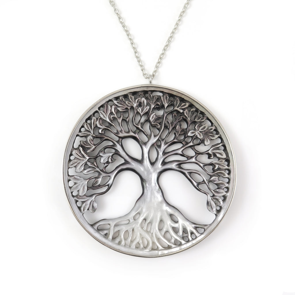 Mother of Pearl Pohutukawa Tree pendant