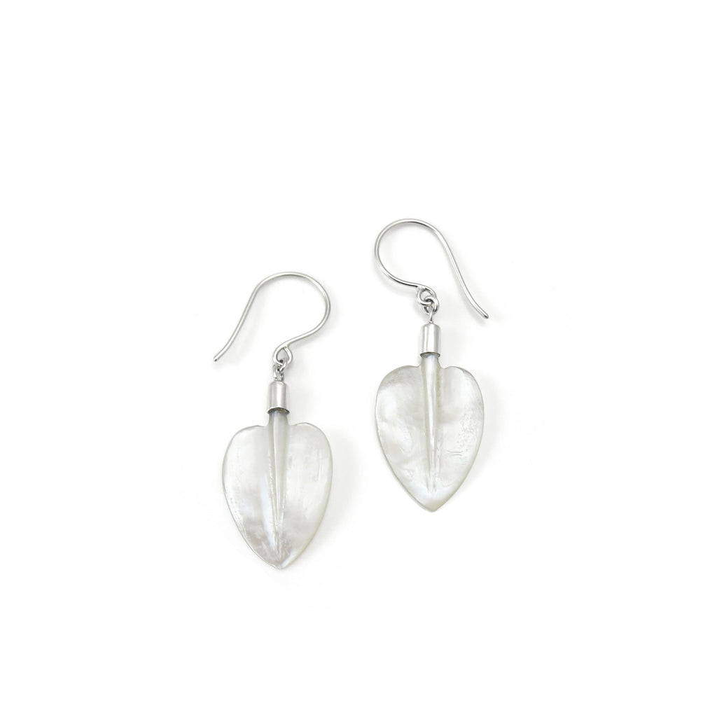 Mother of Pearl Pohutukawa Leaf earrings