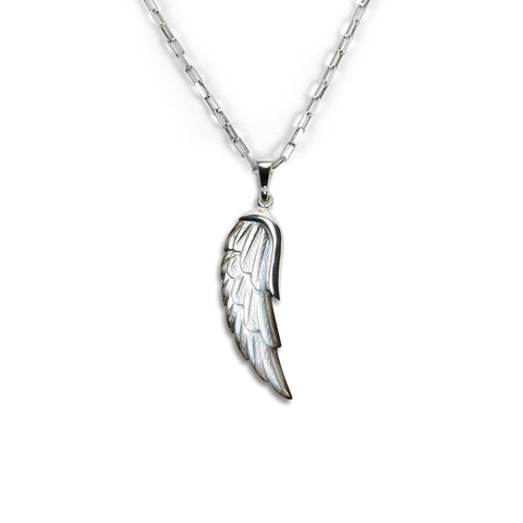 Mother of Pearl Wing Charm