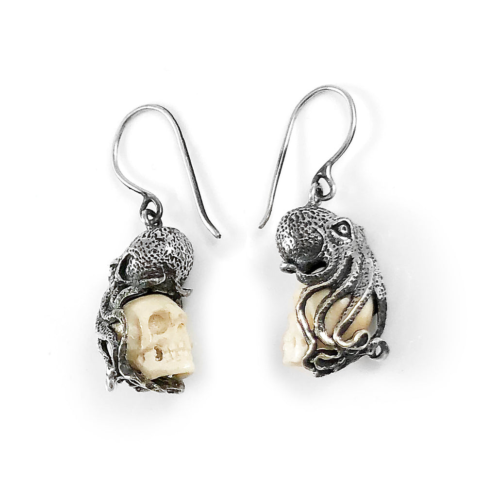 Octo Skull Earrings
