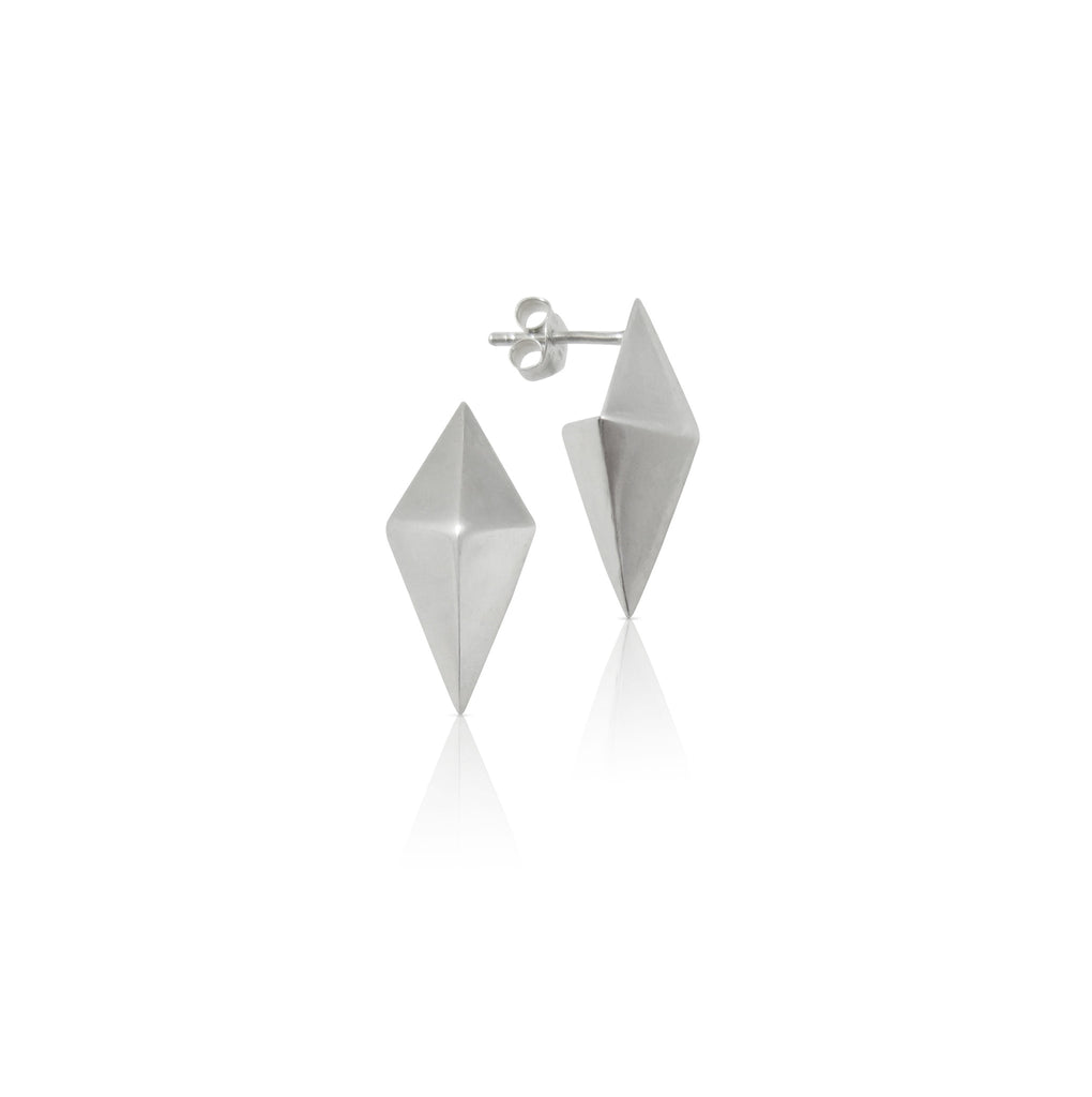 Origami Box Stud Earrings
