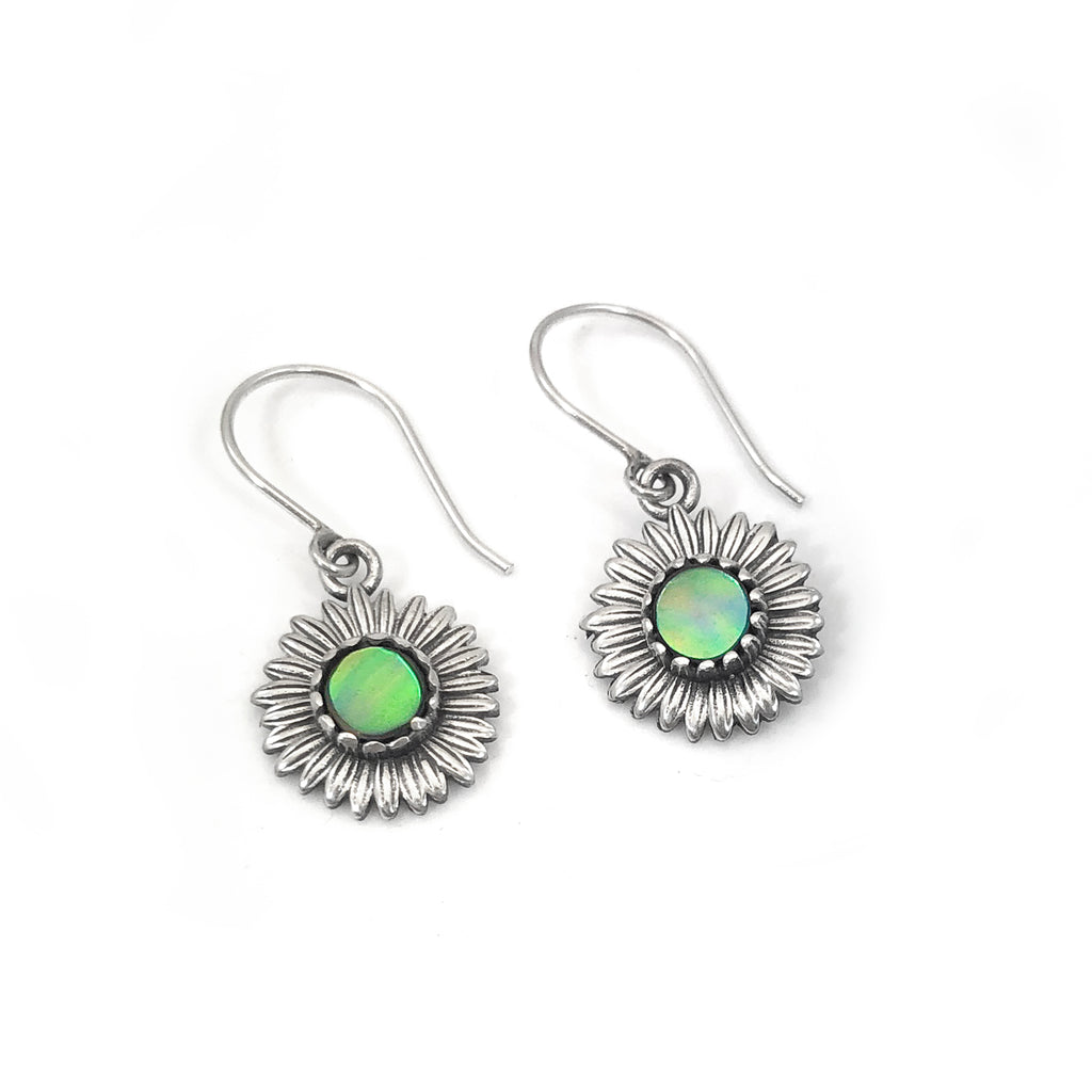 Paua Daisy earrings
