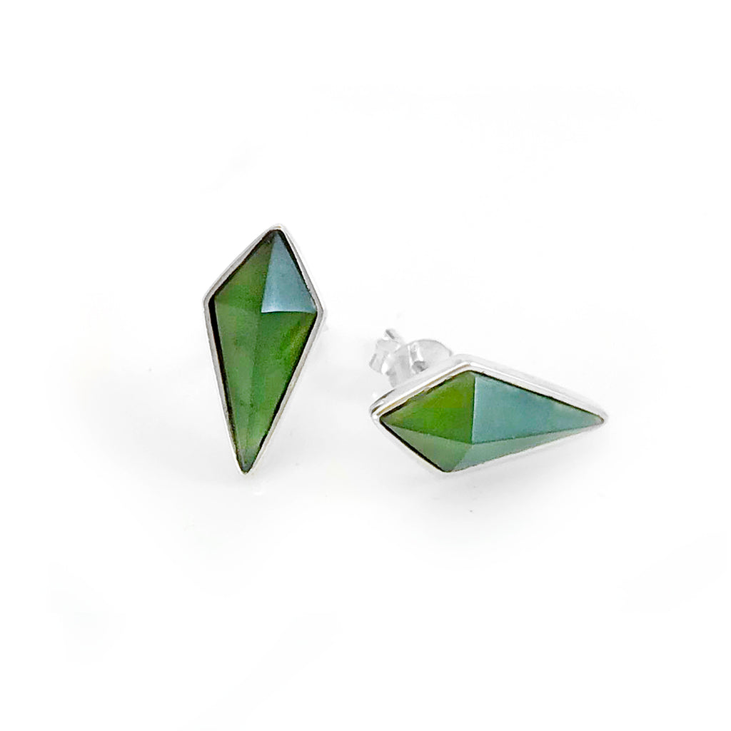 Pounamu Pinnacle Studs