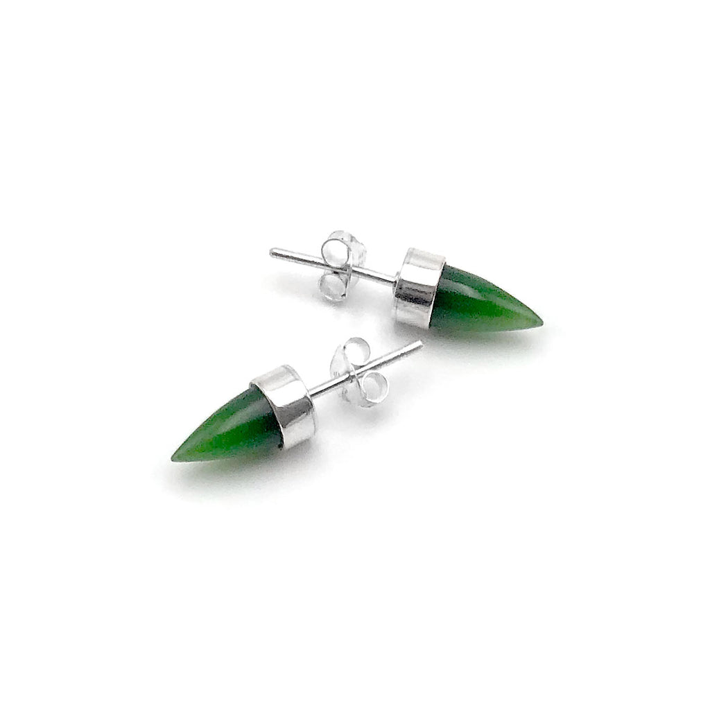 Pounamu Tiny Point Studs
