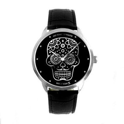 No Time To Waste Polished Steel Watch