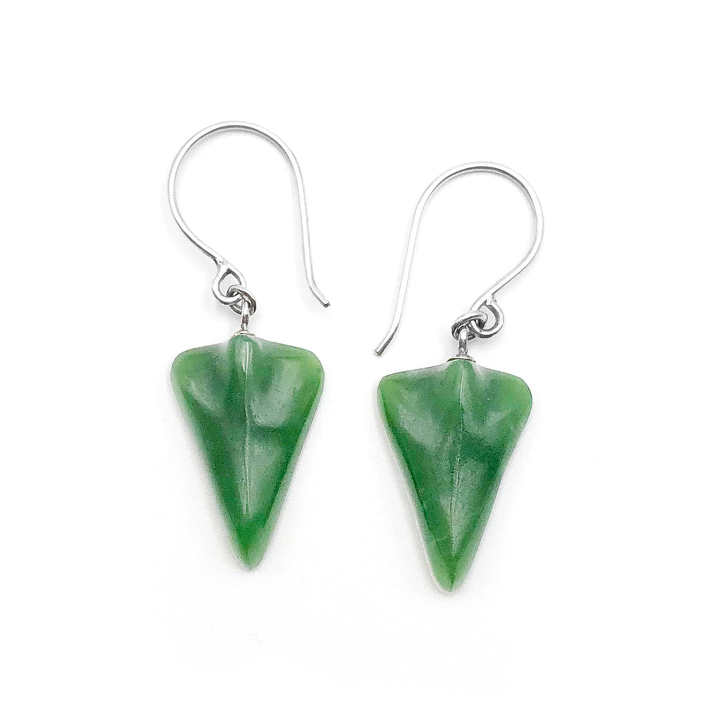 Pounamu Jet Plane Earrings
